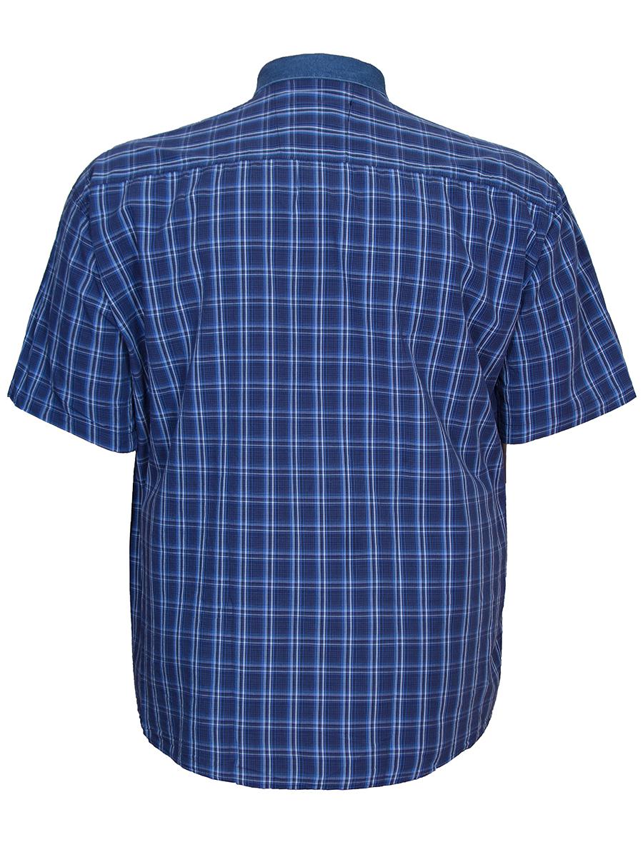 1aeb5ff8306b267 Купить мужскую темную рубашку в клетку в интернет магазине Большие люди