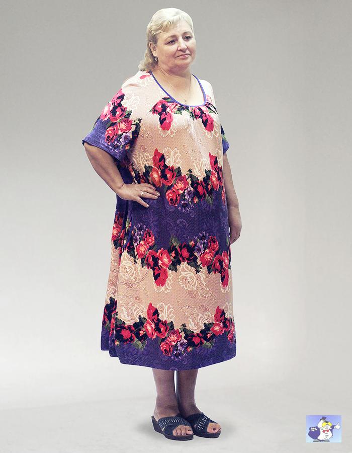 eea93913d94f Интернет-магазин одежды больших размеров Большие Люди · Каталог · ЖЕНЩИНЫ ·  Домашняя одежда · Домашнее платье