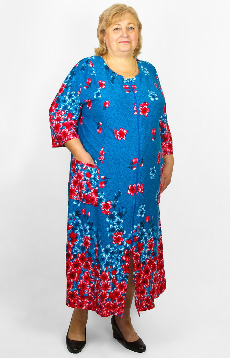 Купить Платье Халат Большого Размера