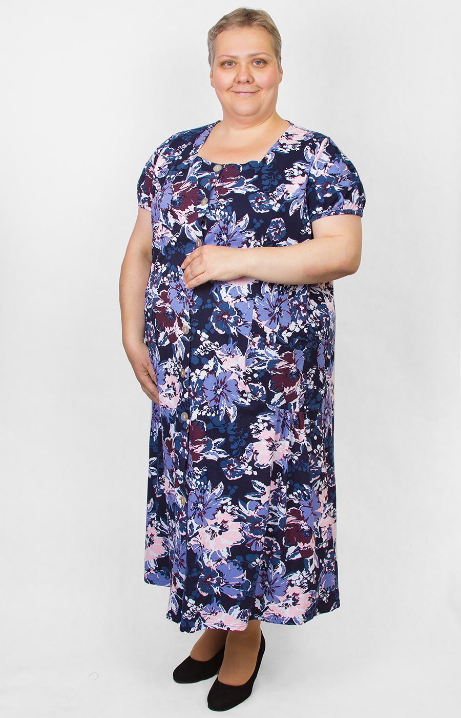 Женское Домашнее Платье Большого Размера